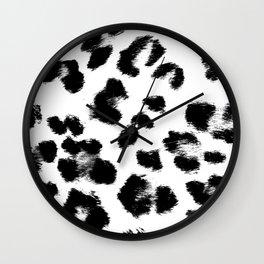 Black & White Leopard Print Wall Clock