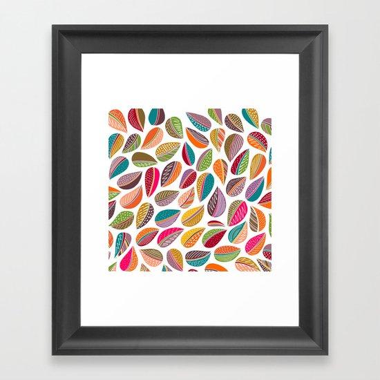 Leaf Colorful Framed Art Print