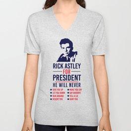 Rick Astley For President Unisex V-Neck