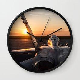 FA-18 Hornet Wall Clock
