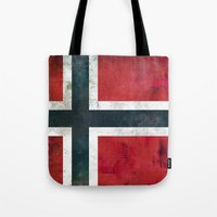 norway Tote Bags featuring Norway by Arken25