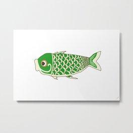 Koi Green Metal Print