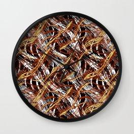 Colorful Wavy Abstract Pattern Wall Clock