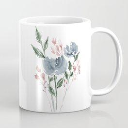 Old Blue Peonies Coffee Mug