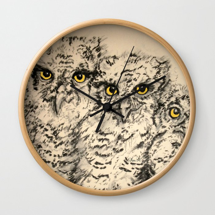 Owls 2.5 Wall Clock