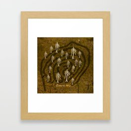 Ethnic 4 Canary Islands / Crowd in the Maze Framed Art Print