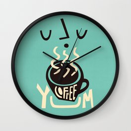 Yum Coffee Wall Clock