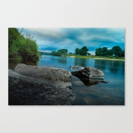 River Landscape Photography - The Banks of the Tay, Scotland Canvas Print