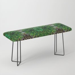 Cocoplum and Cattails op nature pattern Bench