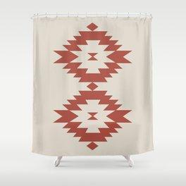 Southwestern Minimalism - Scarlet Red Shower Curtain