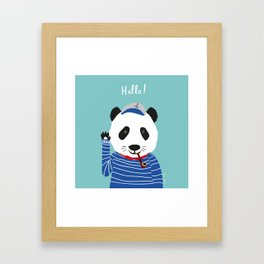 Mr. Panda Seaman Framed Art Print