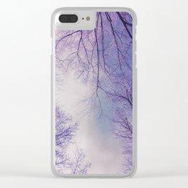 The Trees - Crisp n' Purple Clear iPhone Case