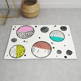 Doodle Dots pattern Rug