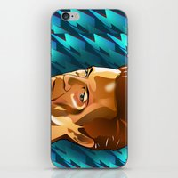 david bowie iPhone & iPod Skins featuring Bowie  by Beth Gatza