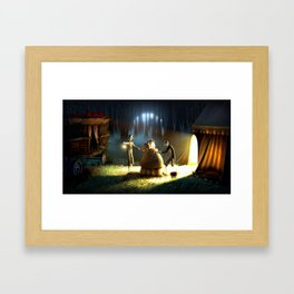 Graveyard Shift Framed Art Print