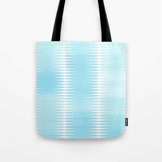 Ocean Blue Geometric Abstract Tote Bag