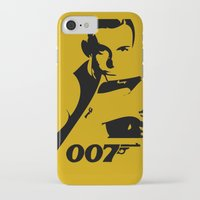 james bond iPhone & iPod Cases featuring 007 James Bond by Walter Eckland