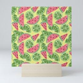 Watermelon Limeade Pattern Mini Art Print