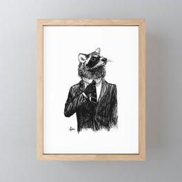 Dapper Raccoon Framed Mini Art Print