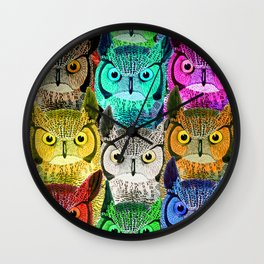 How do owls see in the dark... Wall Clock