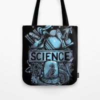 science Tote Bags featuring Science by Crumblin' Cookie