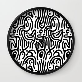 Identity Pattern Wall Clock