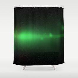 Green Orb N1 Shower Curtain