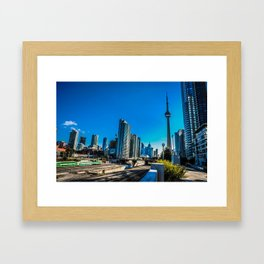 Downtown Toronto View Framed Art Print