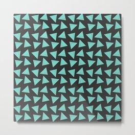 black cyan pattern Metal Print