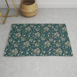 Small Floral Branch Rug