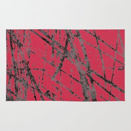 red black scratchy grunge Rug