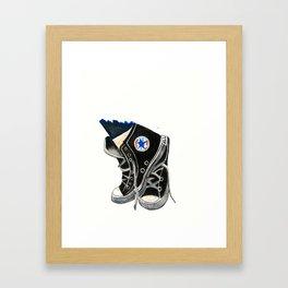 Black High Top Converse Framed Art Print