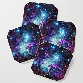 Fox Fur Nebula : Purple Teal Galaxy Coaster