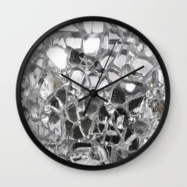 Silver Mirrored Mosaic Wall Clock