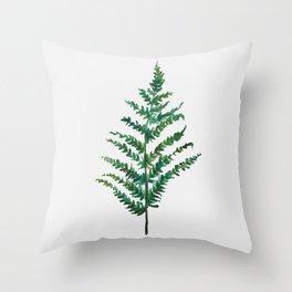 Bedraggled Fern Throw Pillow