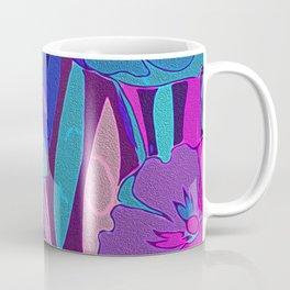 Vivid Dark Blue Purple Midnight Flowers Fine Art Coffee Mug