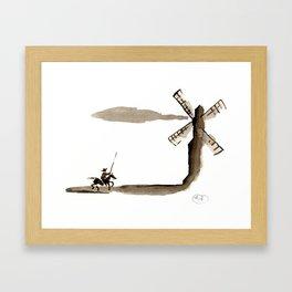 Don Quixote de la Mancha Framed Art Print