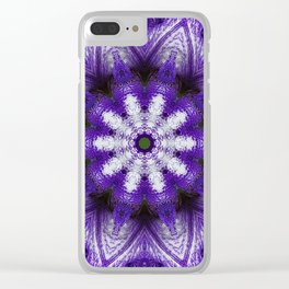 Glowing Violet Star - Iris Stepping Out Kaleidoscope Clear iPhone Case