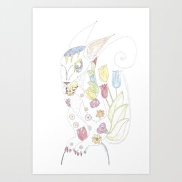 the evil Squirel will eat you Art Print