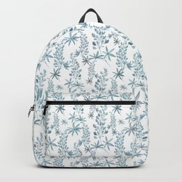 Winter patterns in blue. Backpack