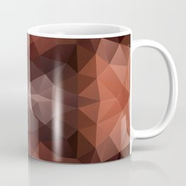 Mozaic design in dark brown colors Coffee Mug