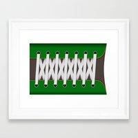 sneaker Framed Art Prints featuring Sneaker by Bärdie D/Sign