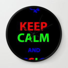 Keep Calm and Design Wall Clock