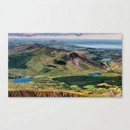Snowdon Moutain View Canvas Print
