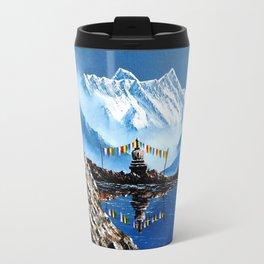 Panoramic View Of Annapurna Mountain Nepal Travel Mug