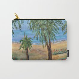 Heading to The Beach 2, Impressionism tropical beach art Carry-All Pouch