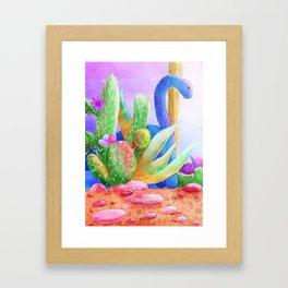 Desert Dino Framed Art Print