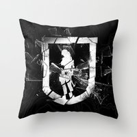 tomb raider Throw Pillows featuring Tomb Raider II. by 187designz