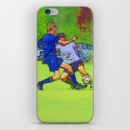 The Big Steal - Soccer Players iPhone Skin