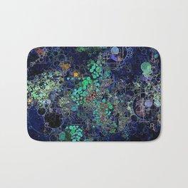 Dark Indigo Turquoise Abstract Design Badematte